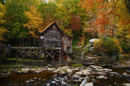grist: grist mill landmark of west viginia in autumn Stock Photo