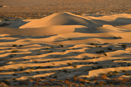 distance: death valley sand dunes from distance Stock Photo