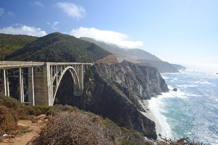 bixby: bixby bridge along california pacific coast highway