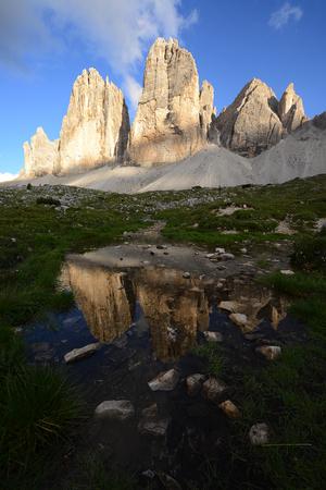 Tre Cime in Dolomite mountain in Italy