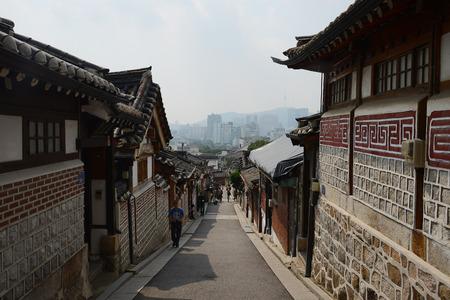 old town in seoul korea Stock Photo
