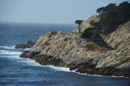 view of rocks on california coast