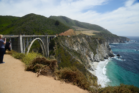 Bixby bridge along california coast Stock Photo
