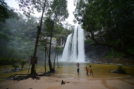 Big Waterfall named Huay Luang in Thailand Stok Fotoğraf