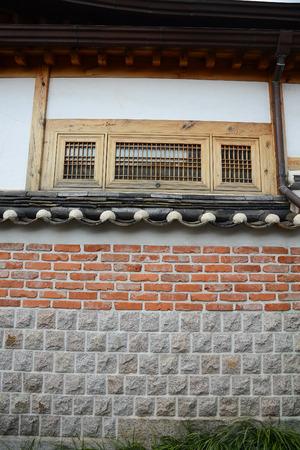 Brick wall in Korea historic district