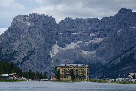 mountain view at lake misurina
