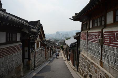 old town in seoul korea Editorial