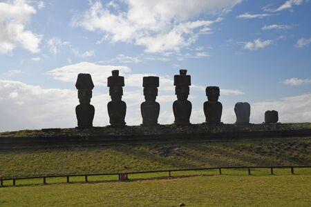Moai from Ahu Nau Nau at Easter Island