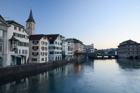 old building in zurich by a river Stock Photo - 137698723