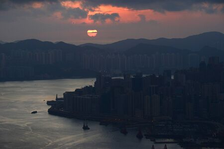 Hong kong sunrise  from the peak