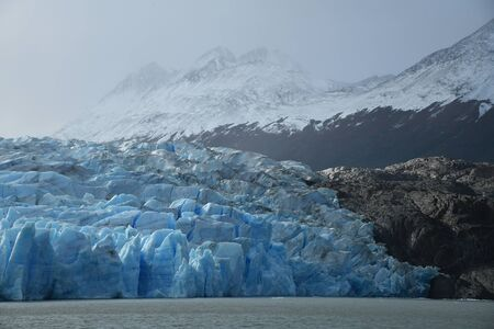 Blue ice from Glacier Grey at Patagonia Chile