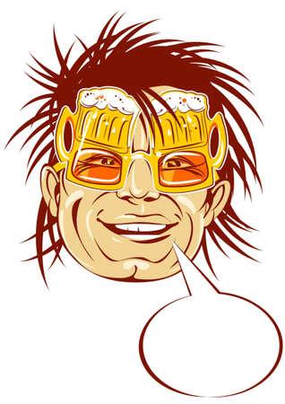 bumpkin: Men in beer sunglasses