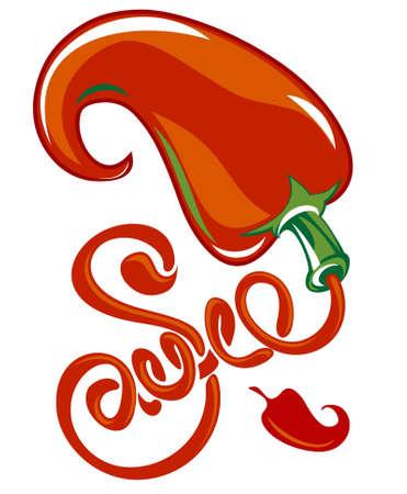 Chili sauce Stock Vector - 11322895