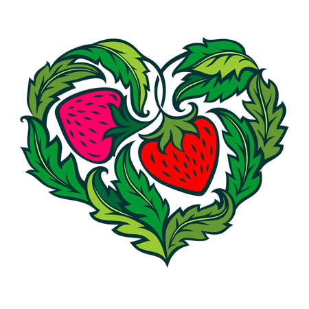 strawberry heart Stock Vector - 12432027