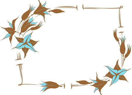 valentine s day: flower frame for greeting card