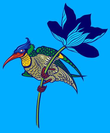 oiseau de couleur magnolia