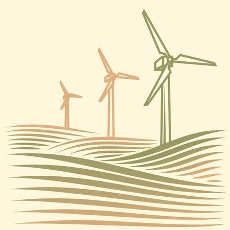 wind energie Stock Vector - 17469491