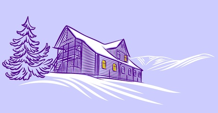 winter home Stock Vector - 17469485