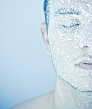 frozen mans face