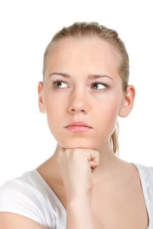 Young female thinking Stock Photo - 11322165