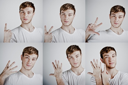 set a man to point the finger Stock Photo - 11322333