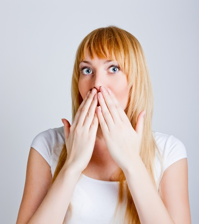 Young woman shocked Stock Photo - 11322164