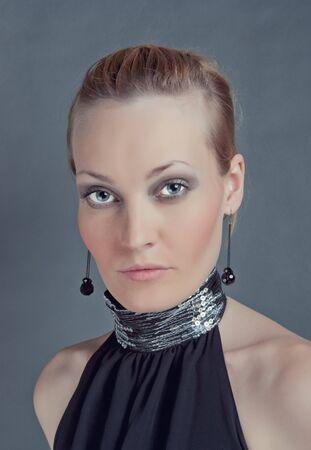 Fashion portrait of young beautiful girl photo