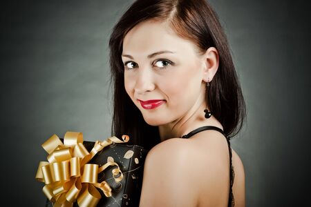 happy girl with gift box Stock Photo - 11322348