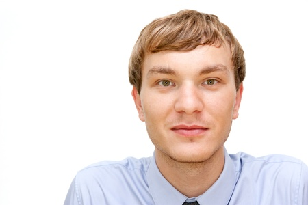 Young man looking happy