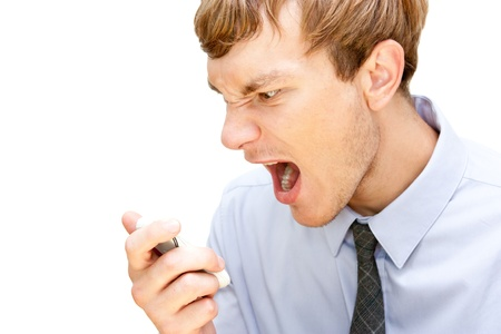 angry manager screaming over the phone Stock Photo - 11322207