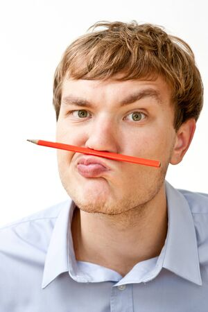 portrait of a manager with a pencil photo