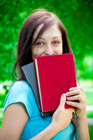 Beautiful Teen with Book photo