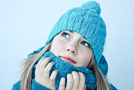 Beautiful female in winter clothes photo