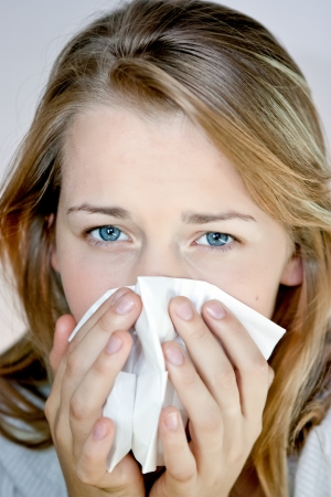 young female having a cold Stock Photo - 11322575