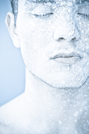 frozen man photo