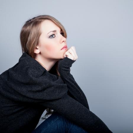 decepci�n: Mujer deprimida