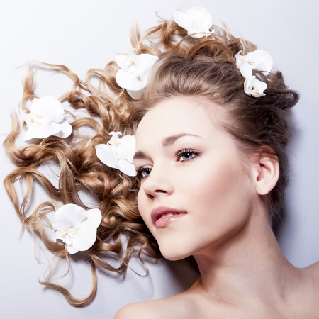 Beautiful Young Spa Woman portrait photo