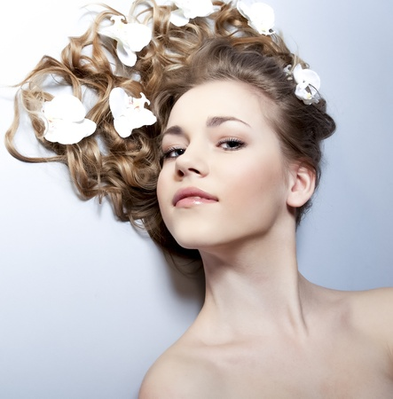 Spa woman - beauty face photo