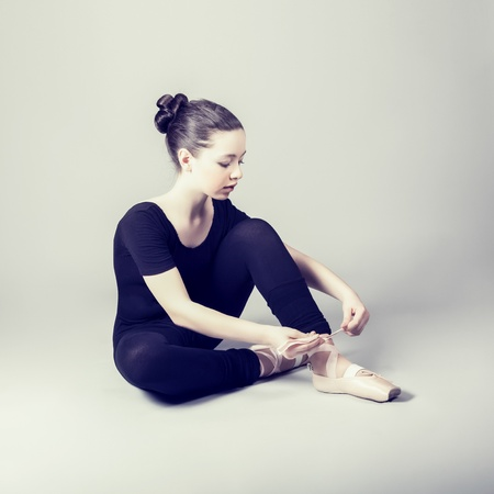 Sweet ballerina girl photo