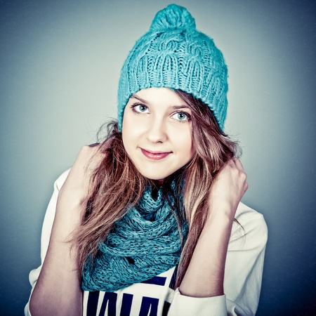 beautiful teenager in winter clothes Stock Photo - 12979972