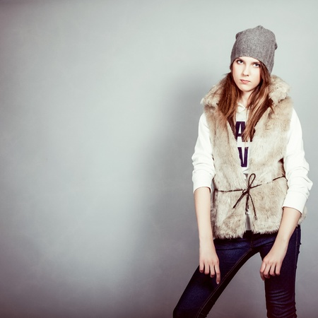 fashion girl in winter clothes Stock Photo - 12979965
