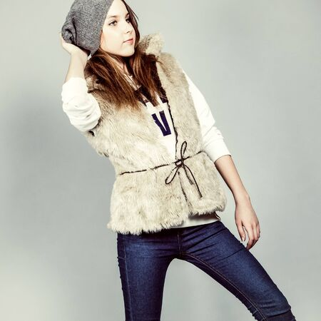 Beautiful girl in winter clothes Stock Photo - 12979952