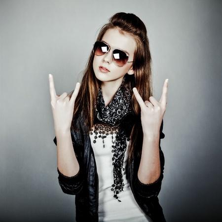pretty teen girl: teen girl rock