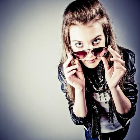 adolescentes chicas: Retrato Adolescente Foto de archivo