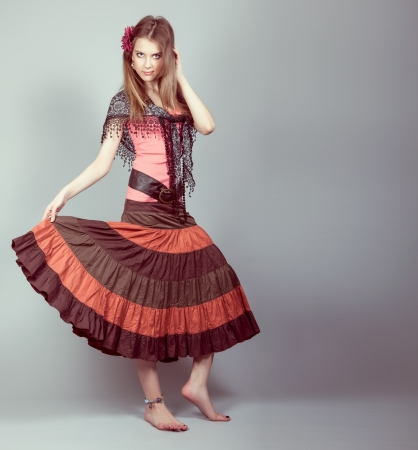 Beautiful gypsy teen Stock Photo - 12979975