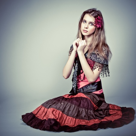gipsy: portrait of a beautiful girl gypsy