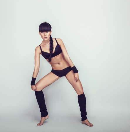 stretchy: Beautiful Girl Dancer Stock Photo