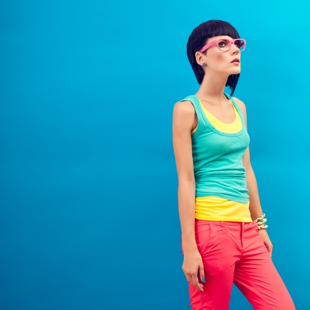 Fashion girl portrait photo