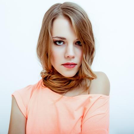 sensuality beautiful blond woman Stock Photo