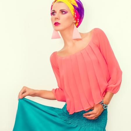 bright portrait of a stylish woman  photo